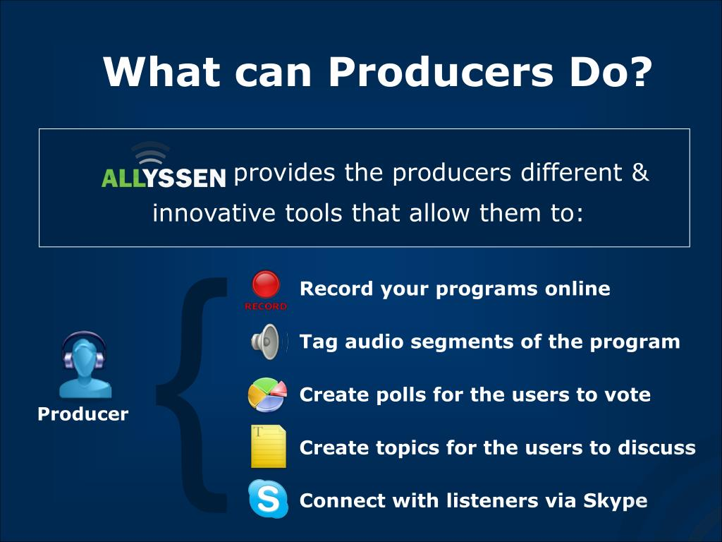What can Producers Do?