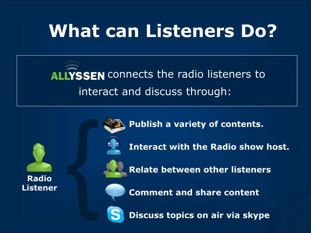 What can Listeners Do?
