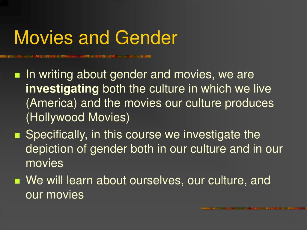 Movies and Gender