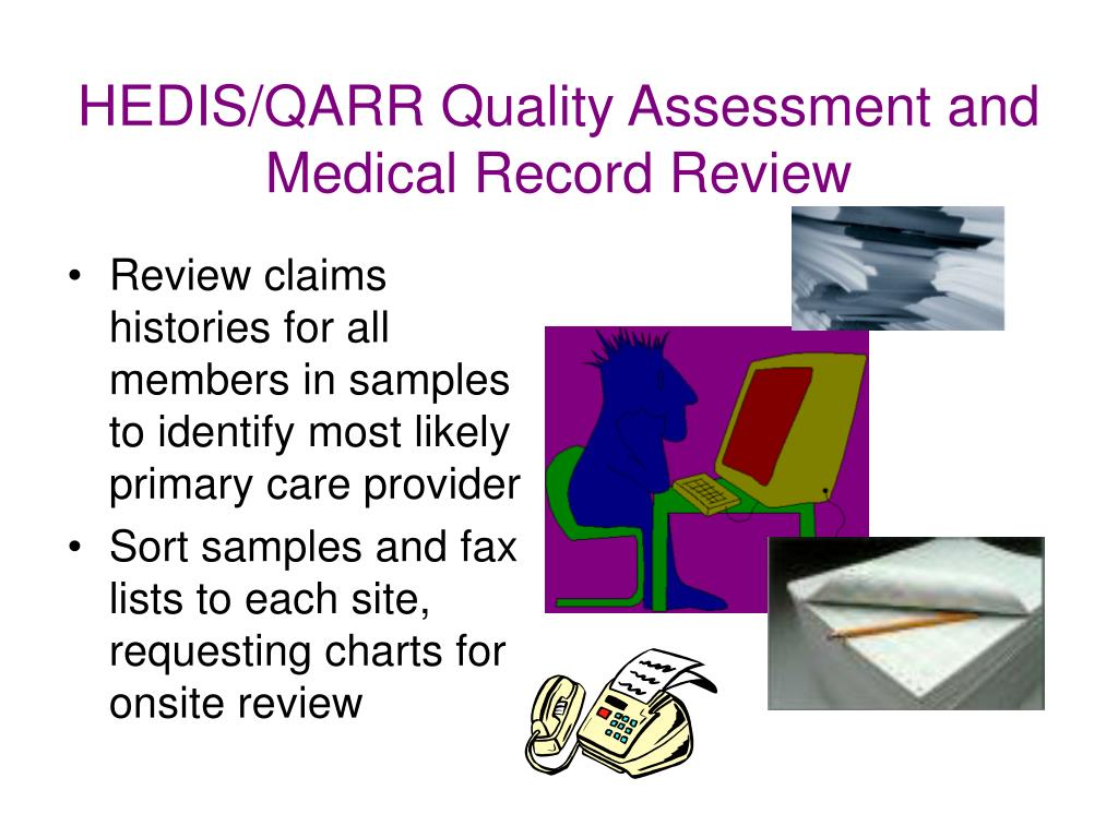 HEDIS/QARR Quality Assessment and Medical Record Review