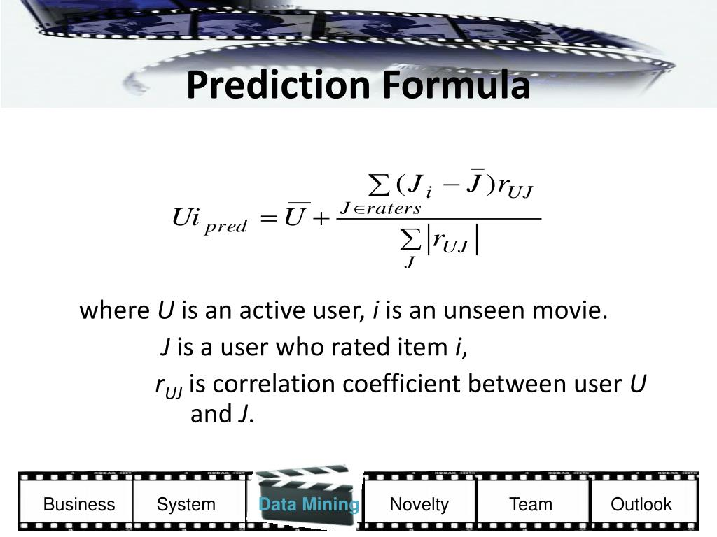 Prediction Formula