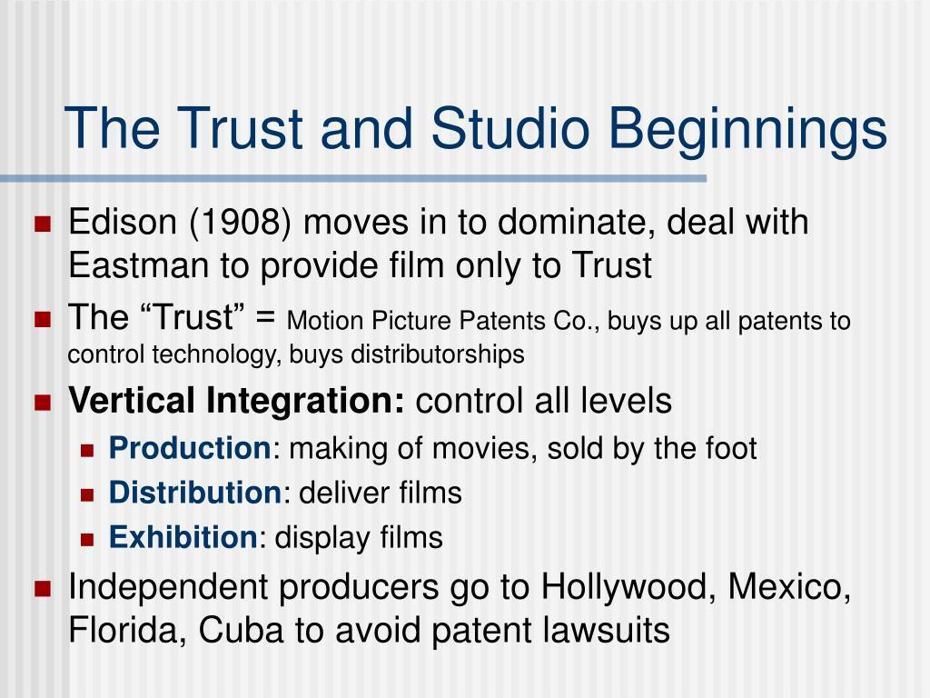 The Trust and Studio Beginnings