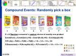 compound events randomly pick a box