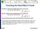 counting the dead man s cards