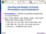 counting the number of events permutations and combinations