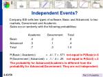 independent events40