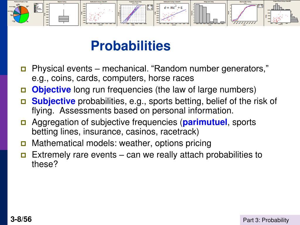Probabilities