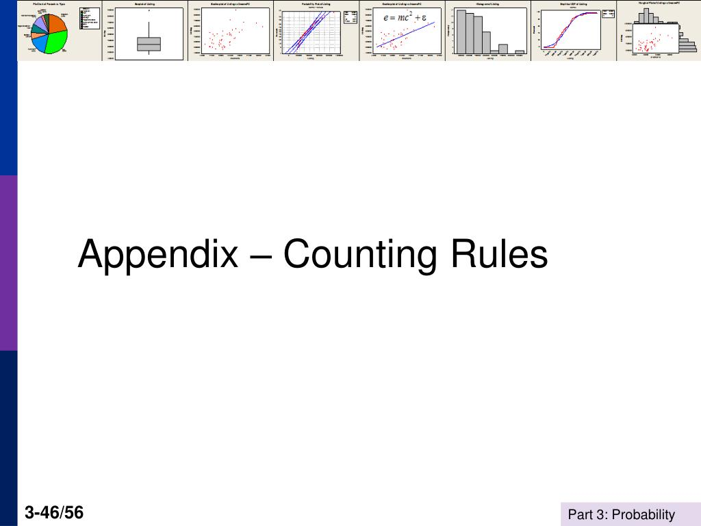 Appendix – Counting Rules