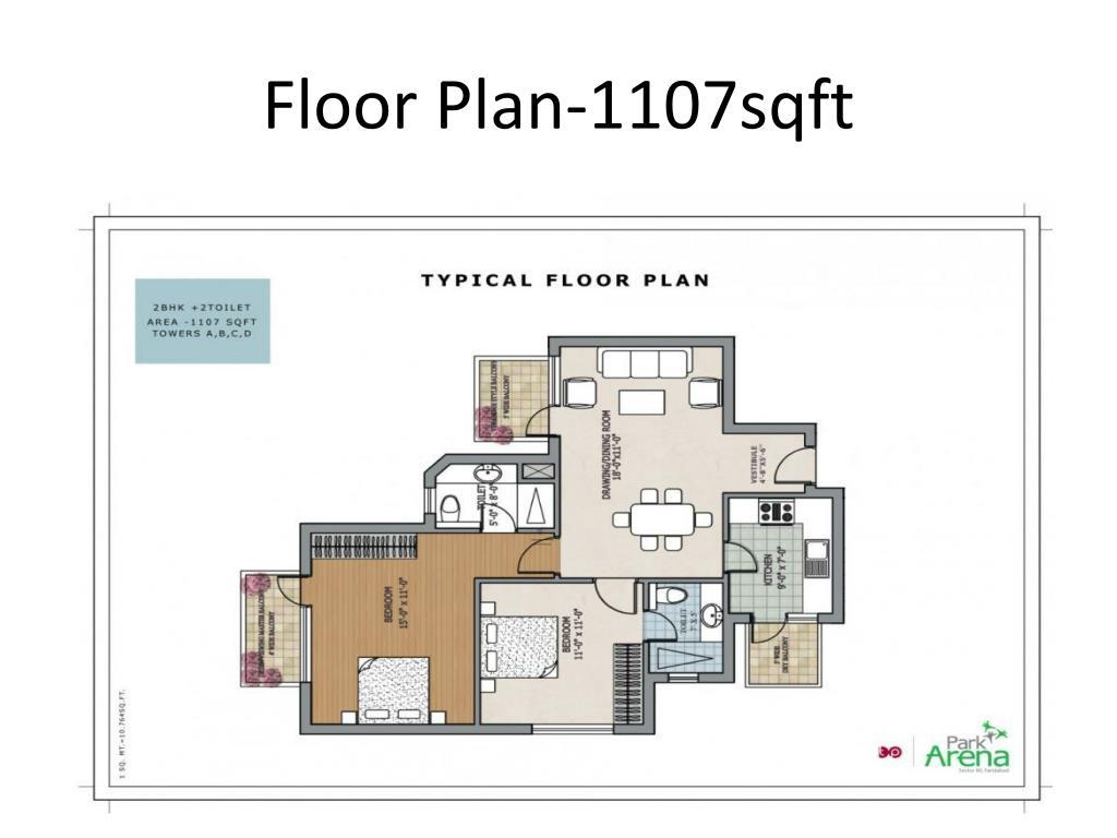 Floor Plan-1107sqft