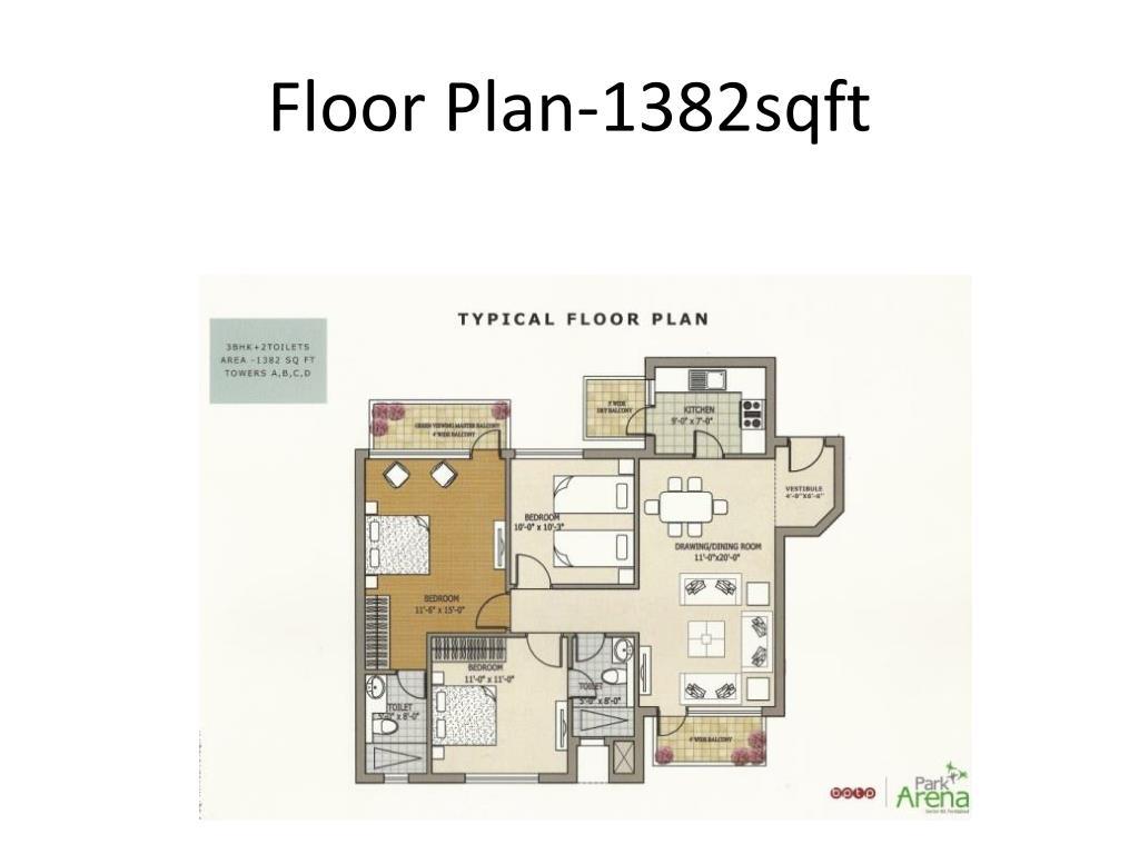 Floor Plan-1382sqft
