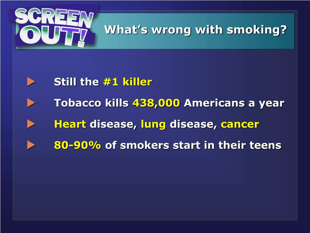 What's wrong with smoking?