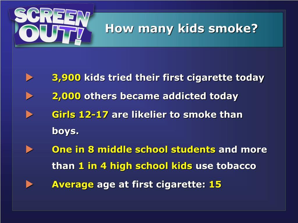 How many kids smoke?