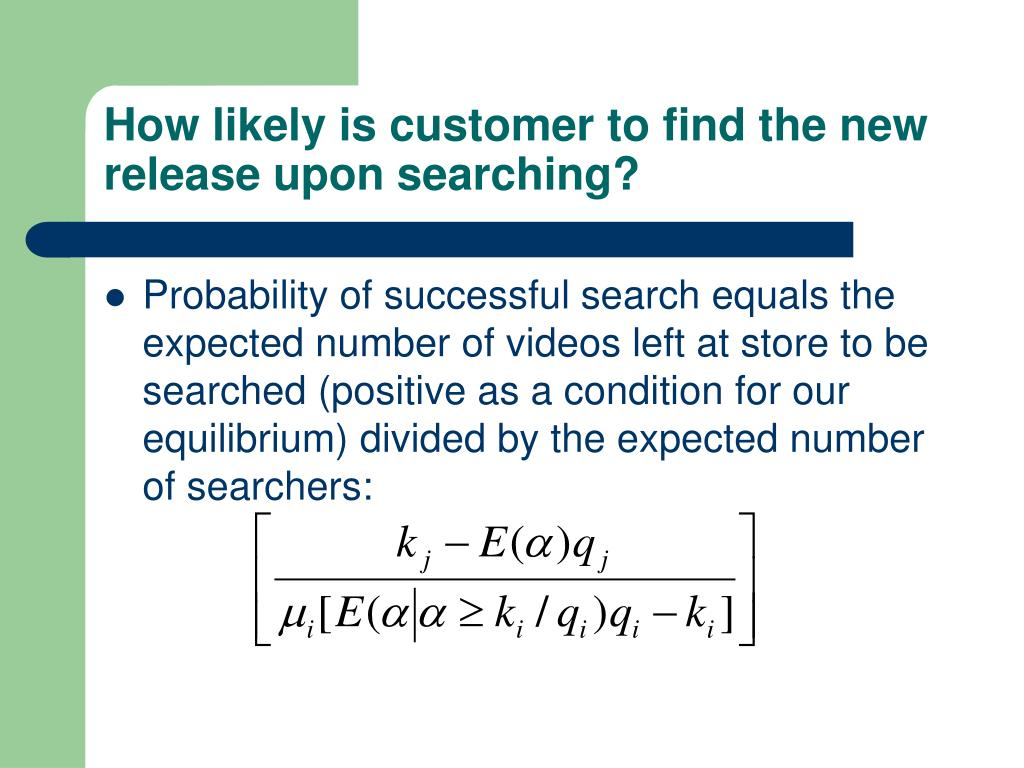 How likely is customer to find the new release upon searching?
