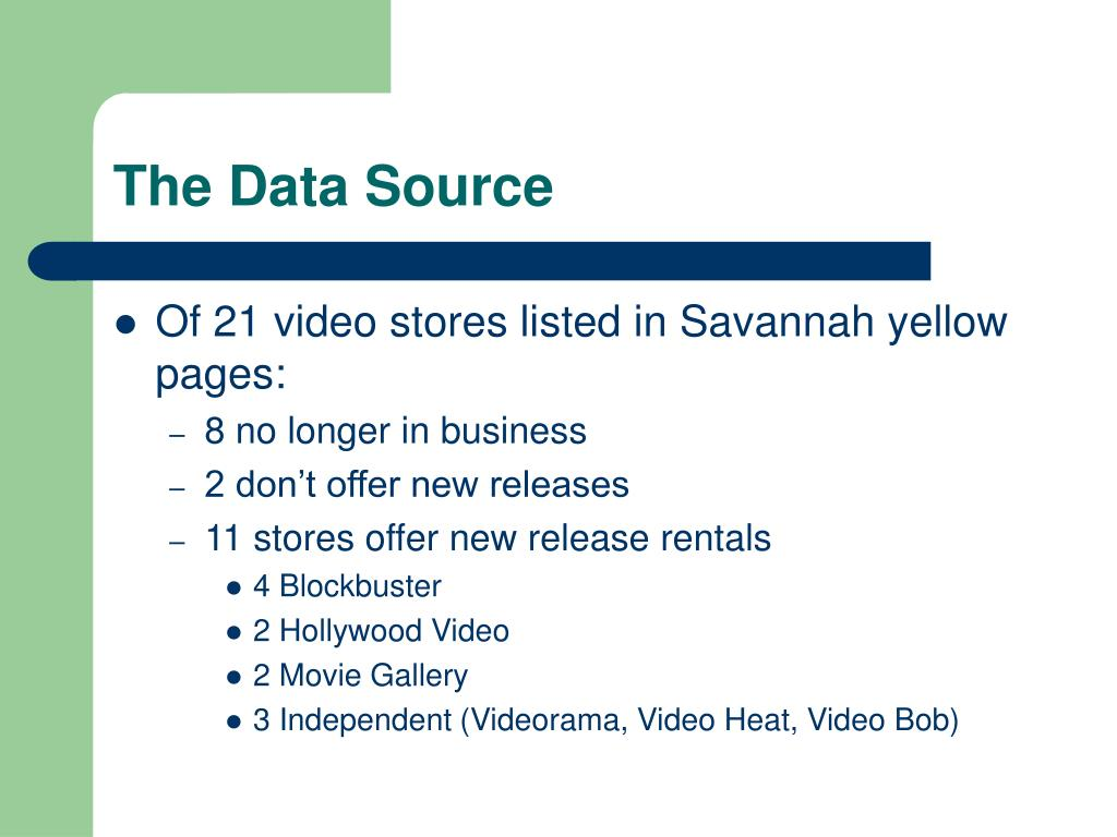 The Data Source