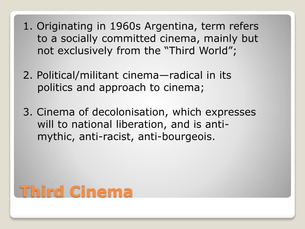 1. Originating in 1960s Argentina, term refers