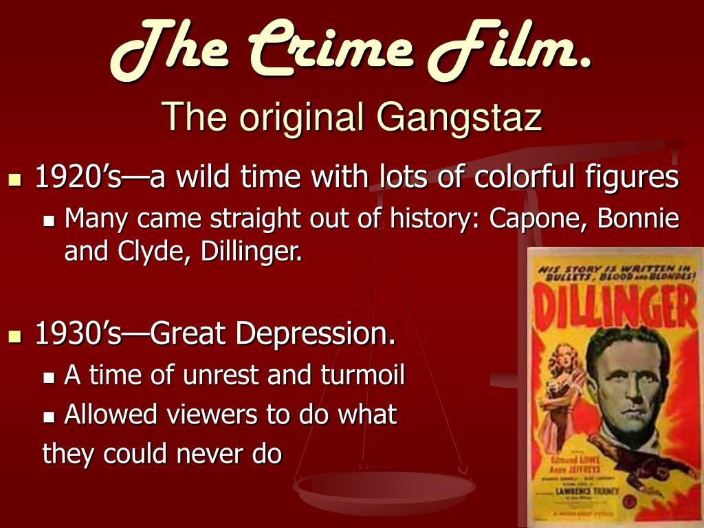 The Crime Film.