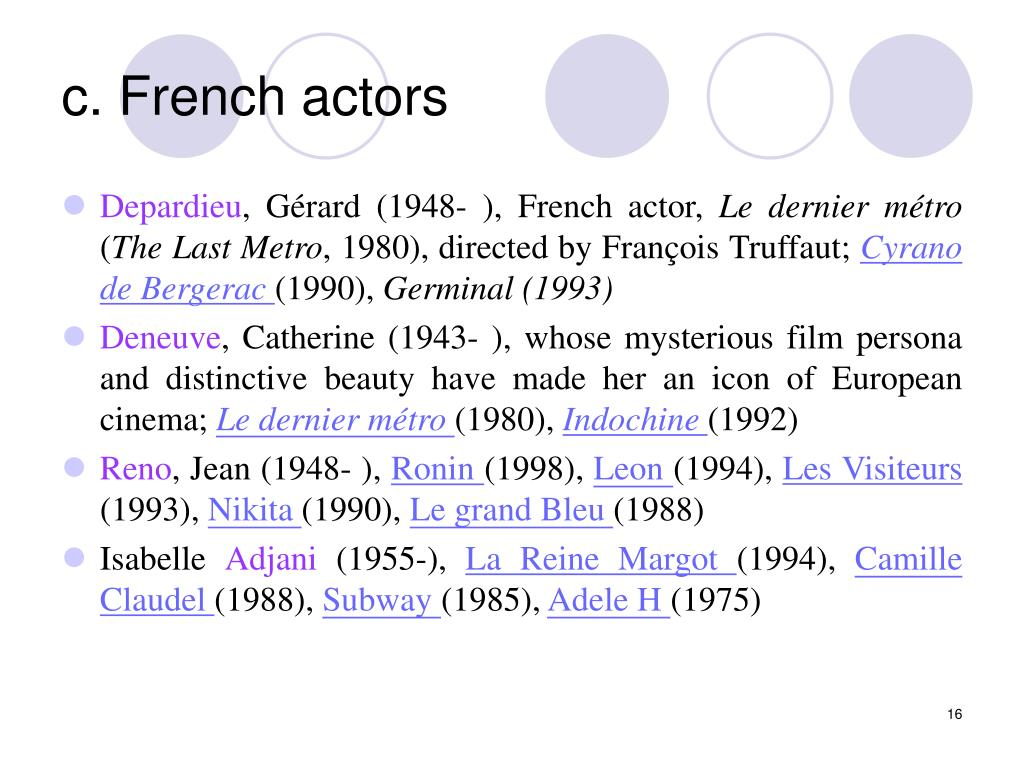 c. French actors