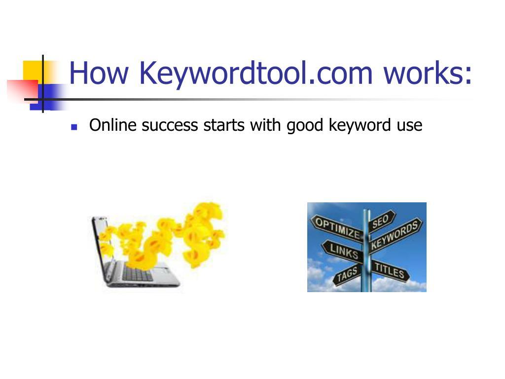 How Keywordtool.com works: