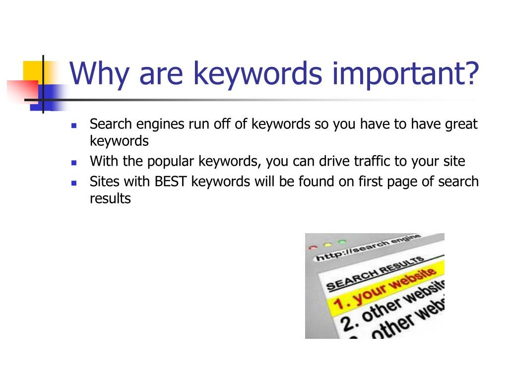 Why are keywords important?