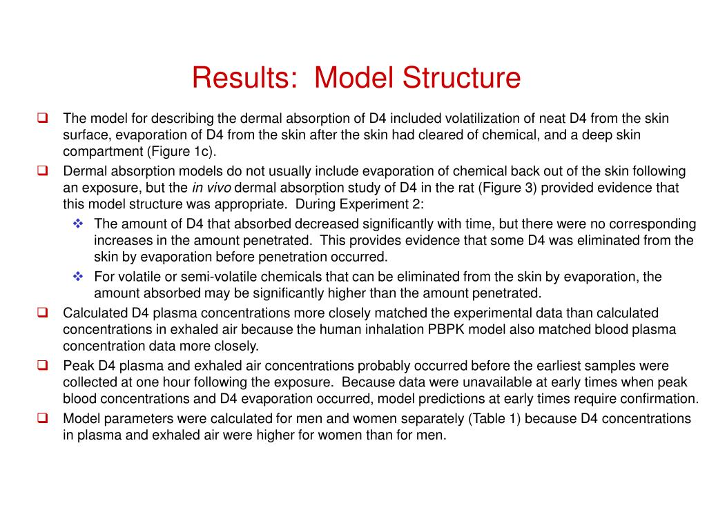 Results:  Model Structure