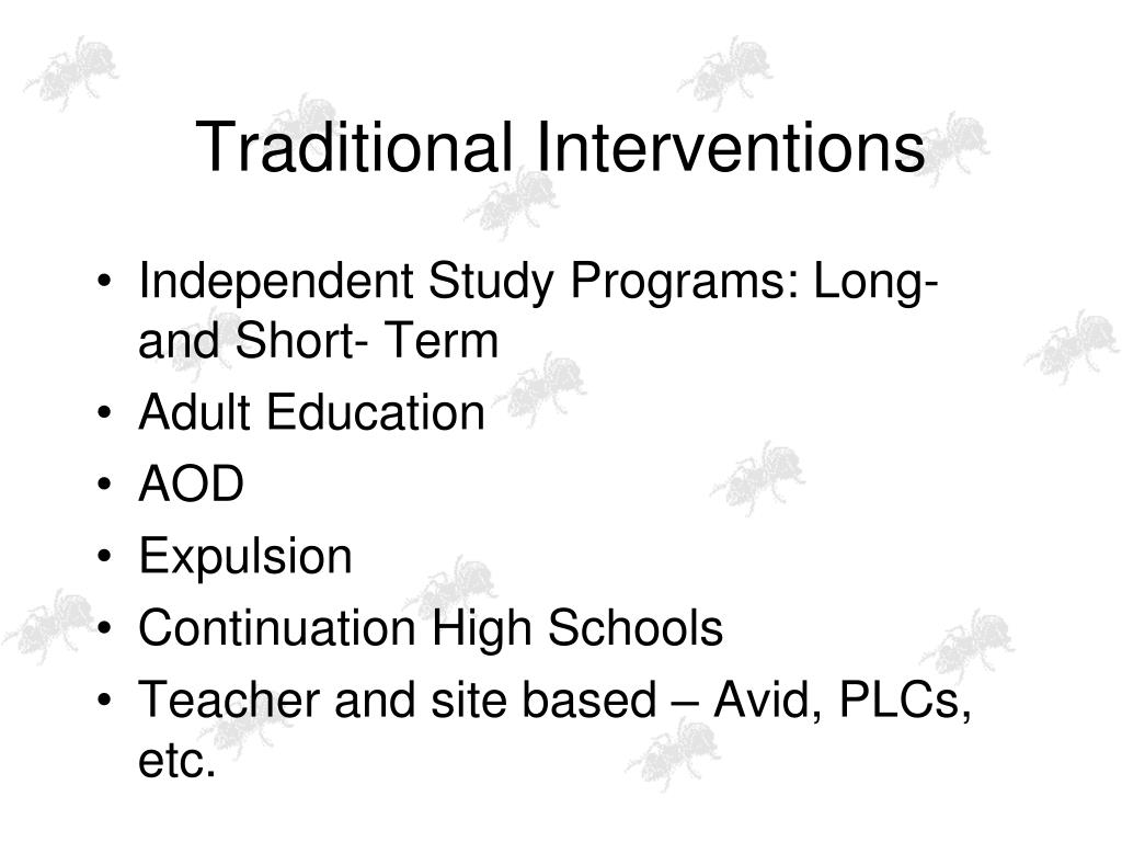 Traditional Interventions