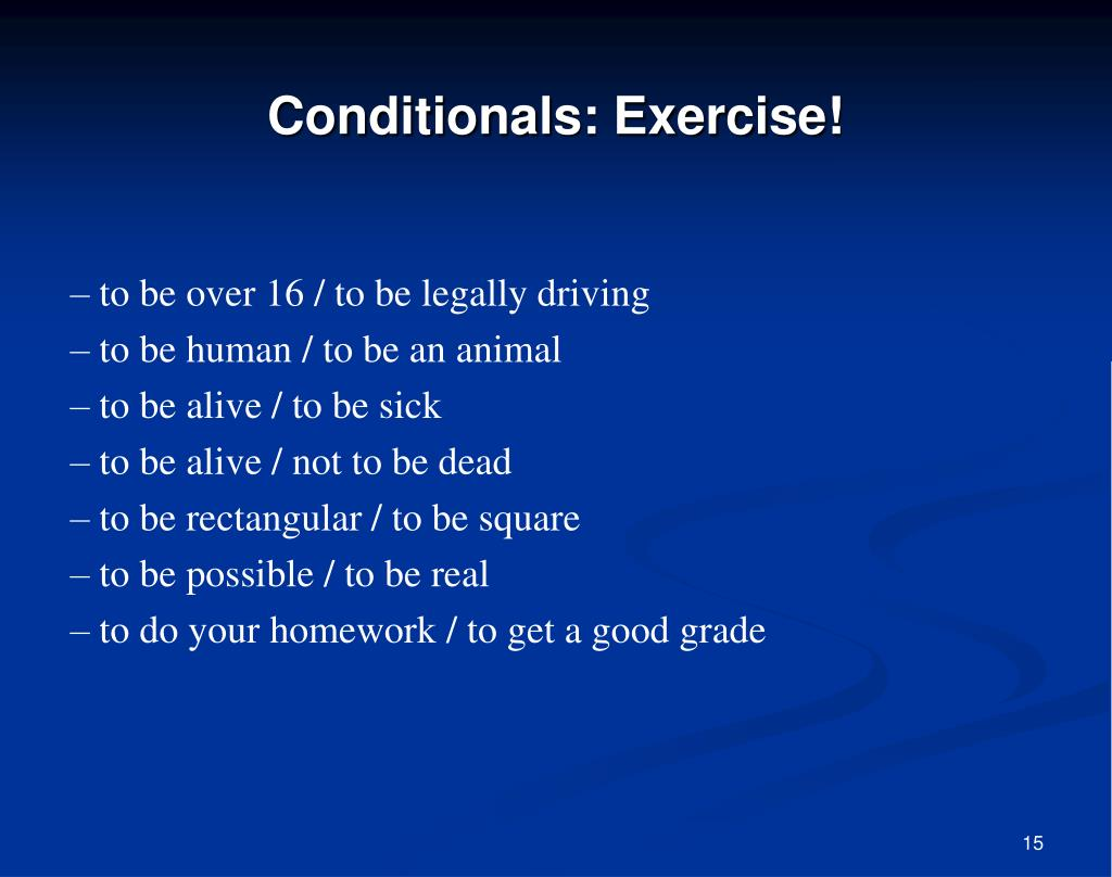 Conditionals: Exercise!