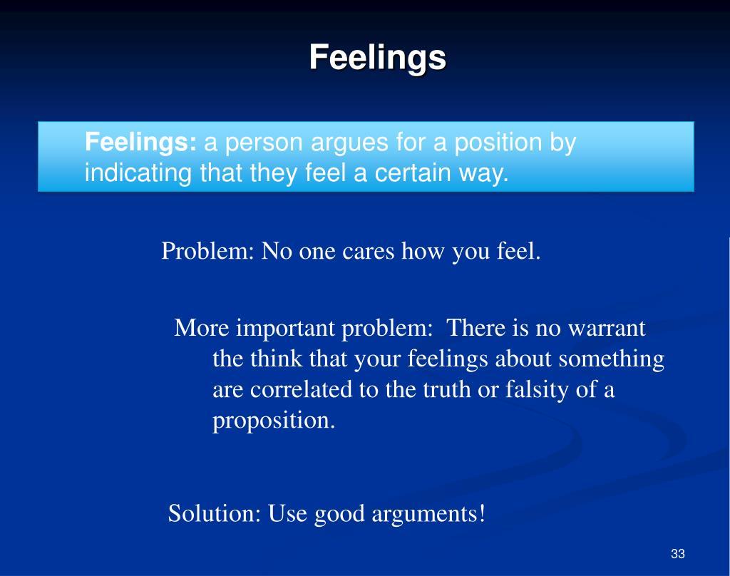 Feelings: