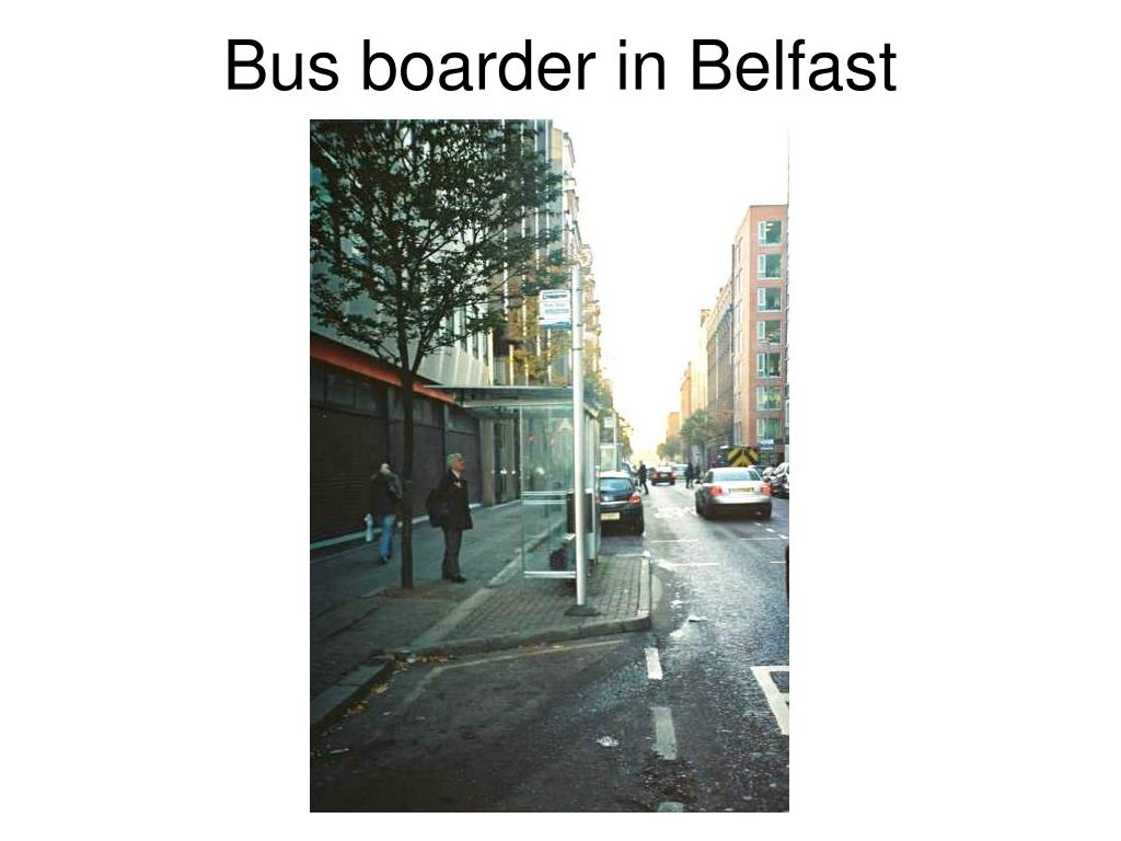 Bus boarder in Belfast