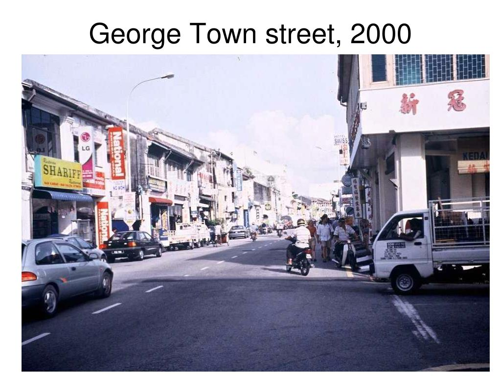 George Town street, 2000