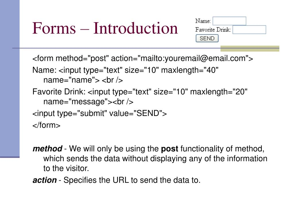Forms – Introduction