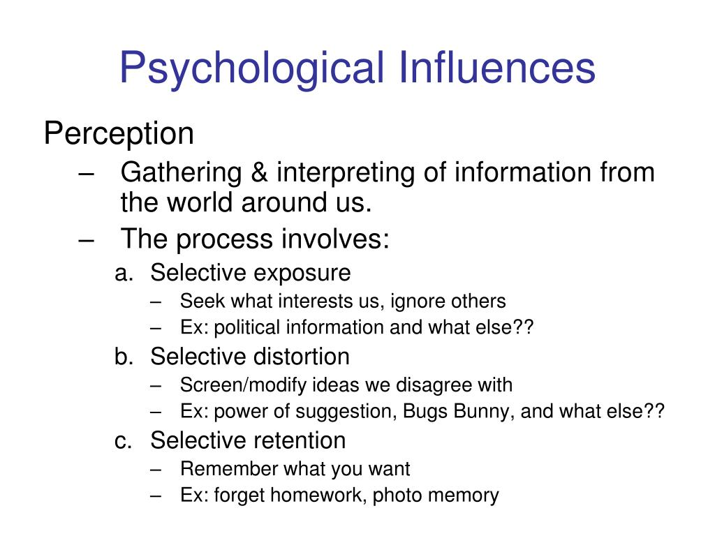 Psychological Influences