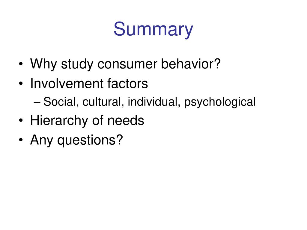 consumer behavior summary Check out our top free essays on consumer behavior executive summary to help you write your own essay.