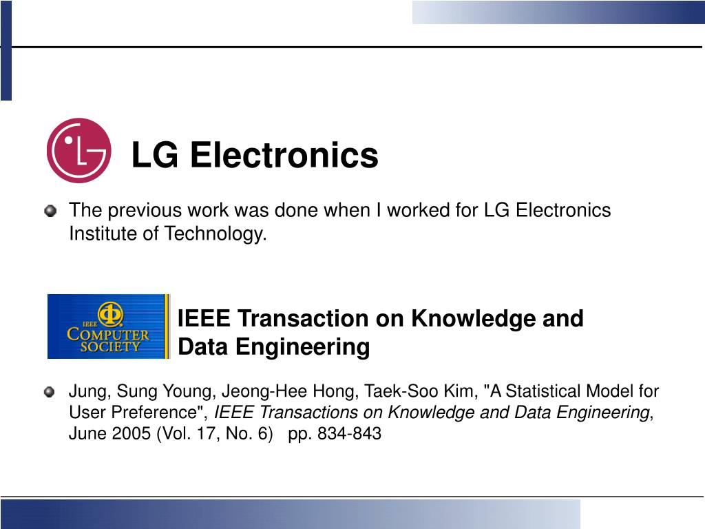 The previous work was done when I worked for LG Electronics Institute of Technology.