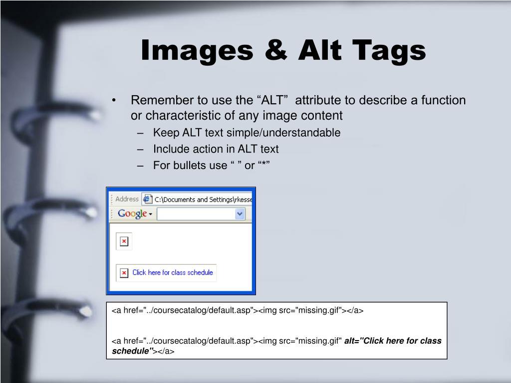 Images & Alt Tags