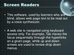 screen readers