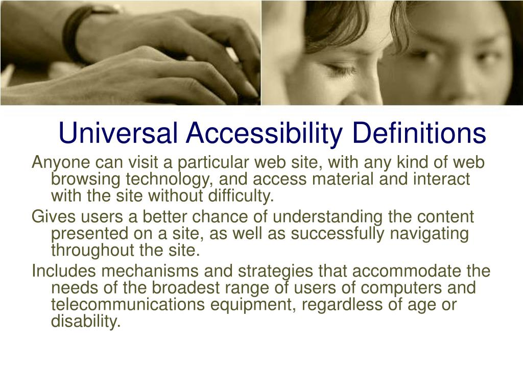 Universal Accessibility Definitions
