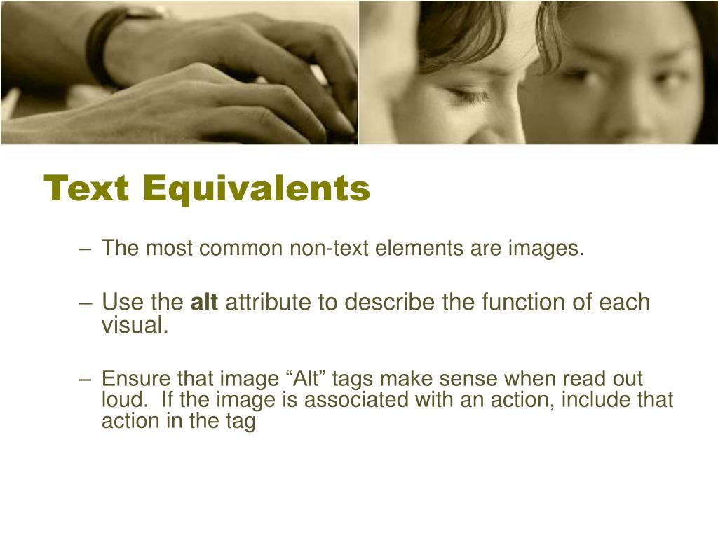 Text Equivalents