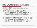 the law for public institutions13