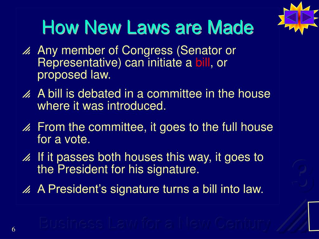 How New Laws are Made