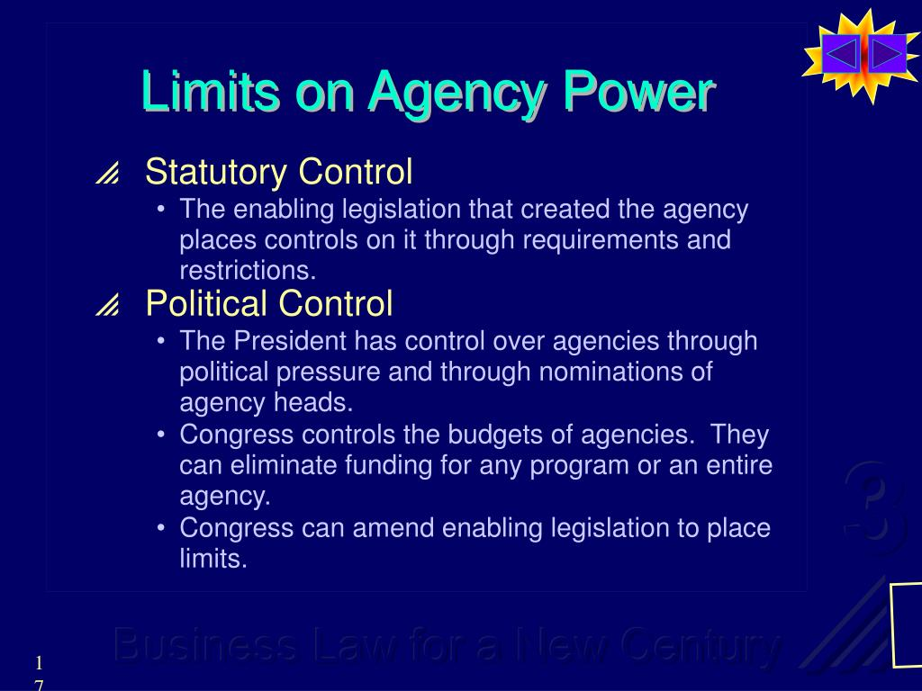 Limits on Agency Power