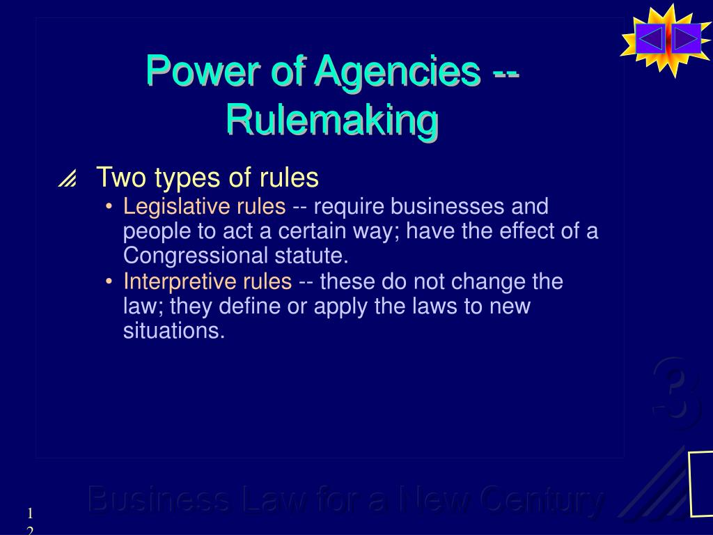 Power of Agencies -- Rulemaking