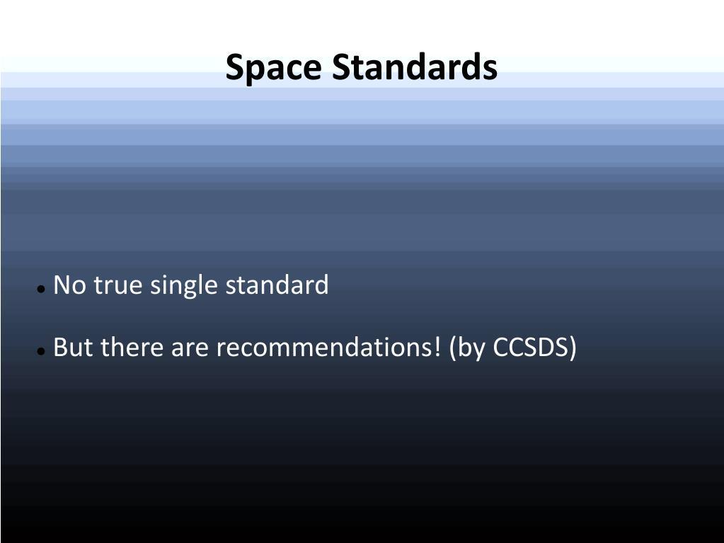 No true single standard
