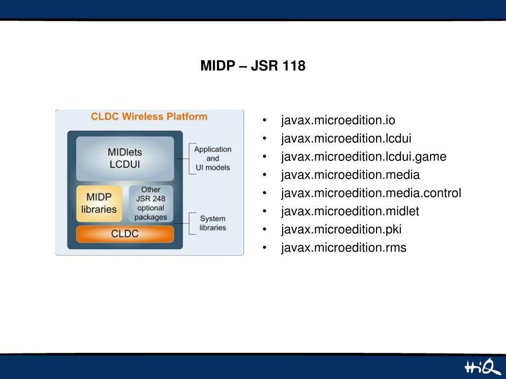 MIDP – JSR 118