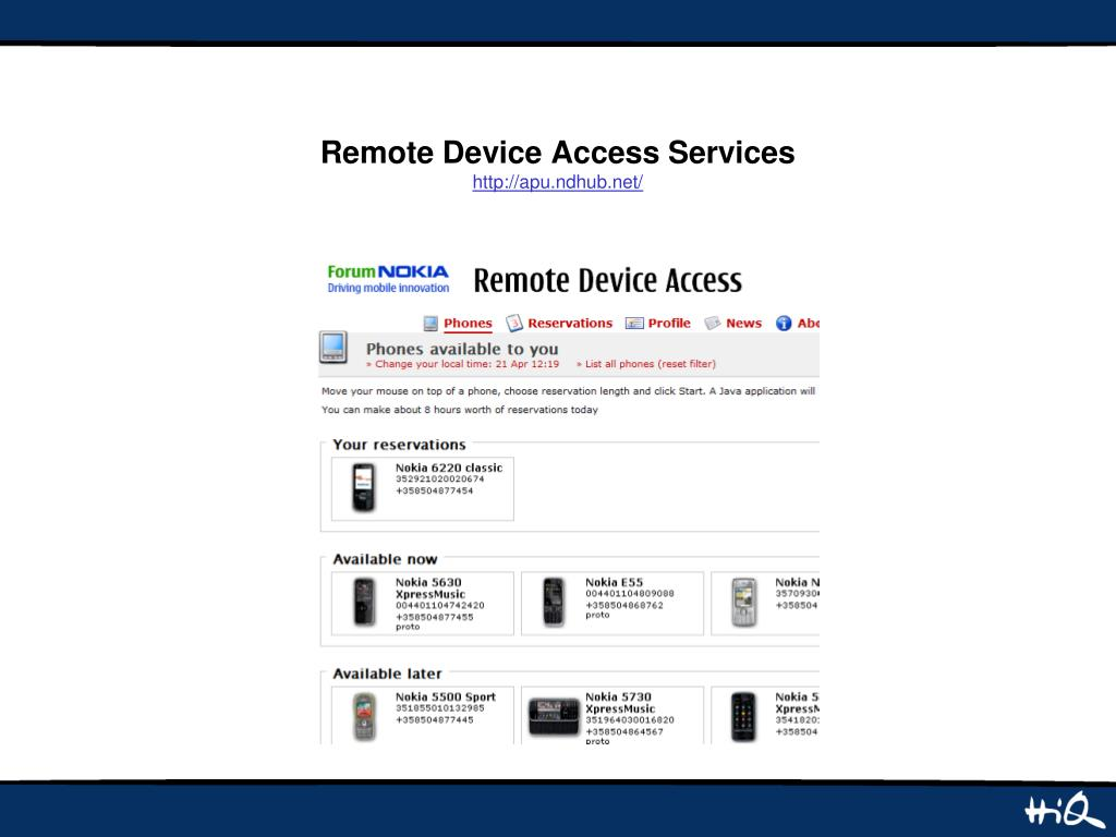 Remote Device Access Services