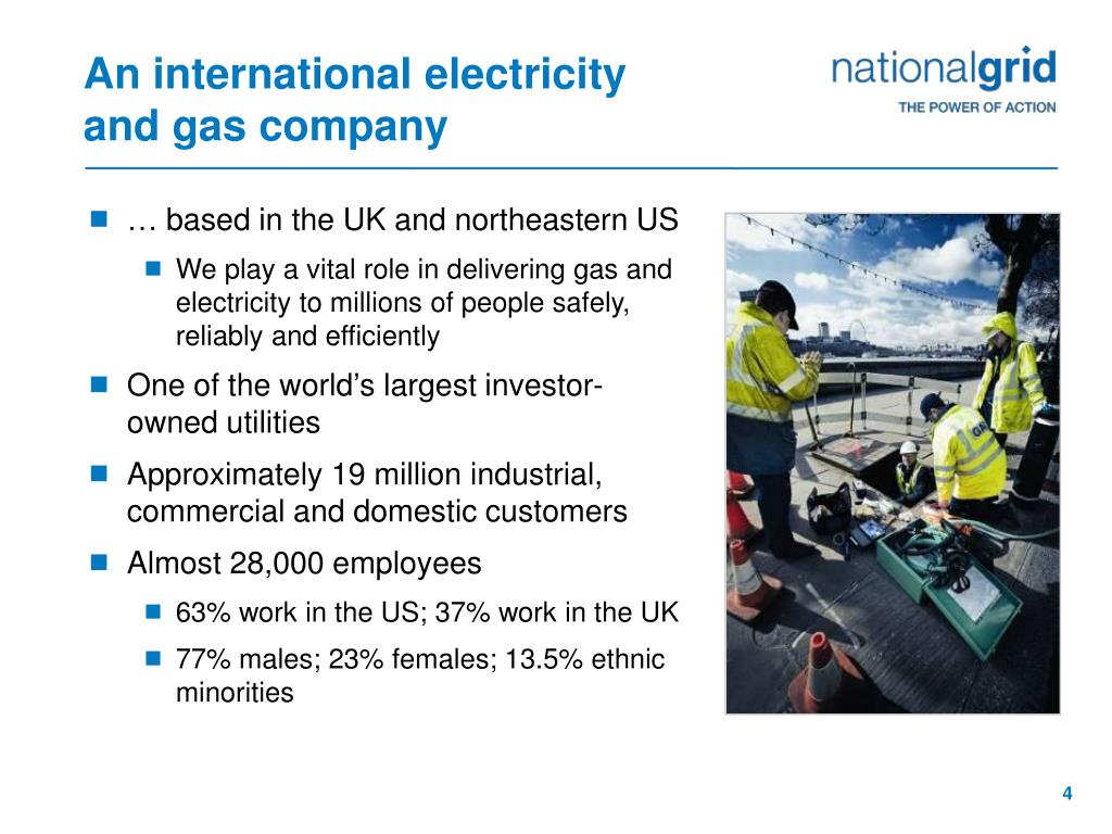 An international electricity and gas company