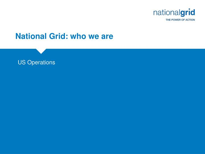 National grid who we are