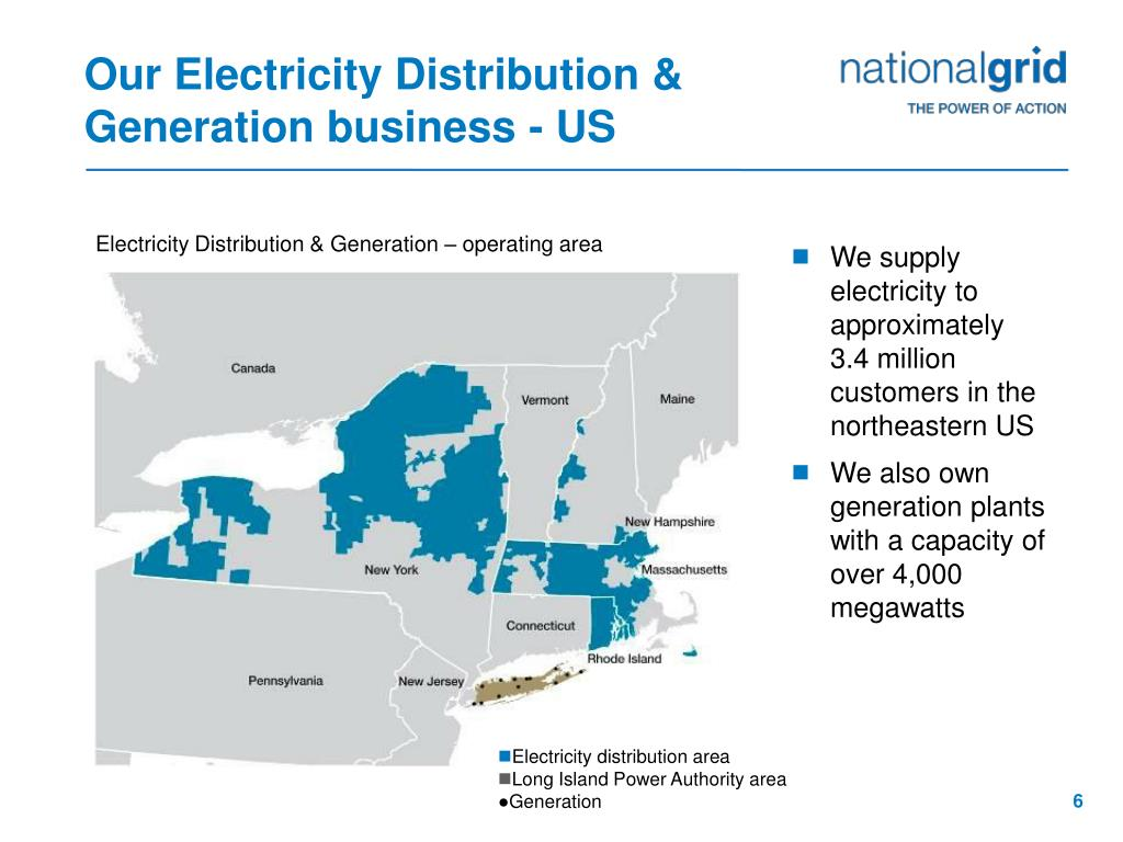 Our Electricity Distribution & Generation business - US