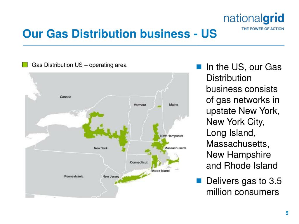 Our Gas Distribution business - US