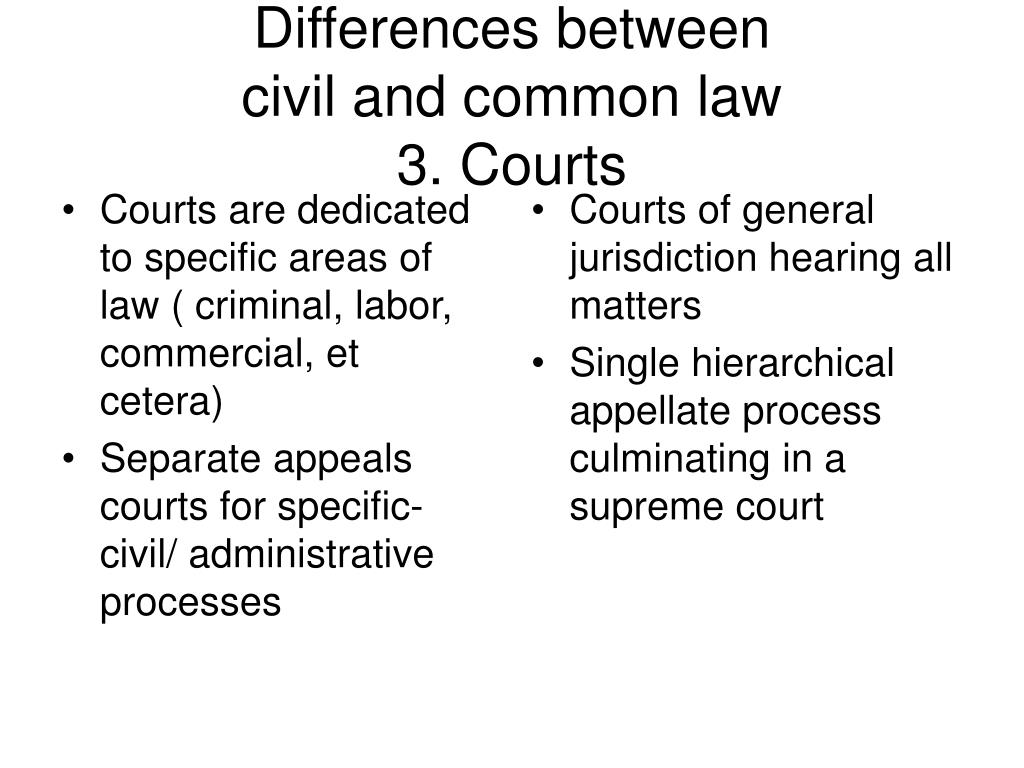 Courts are dedicated to specific areas of law ( criminal, labor, commercial, et cetera)