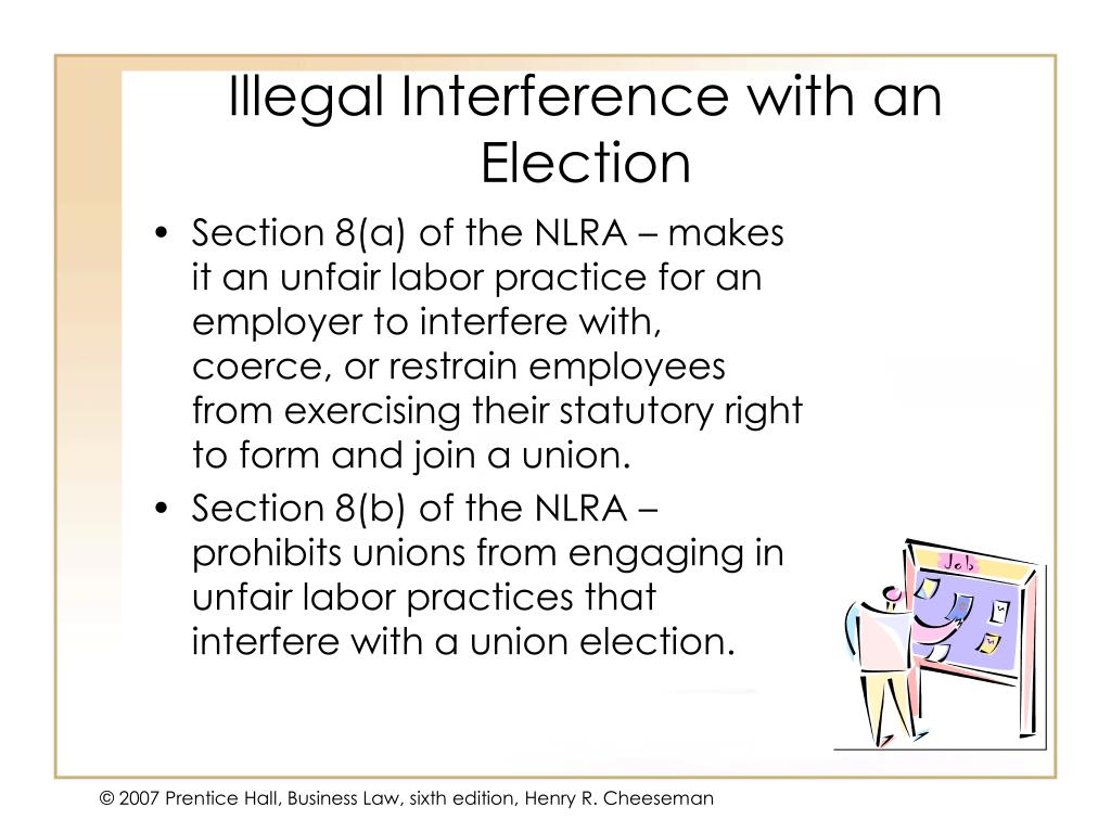 Illegal Interference with an Election